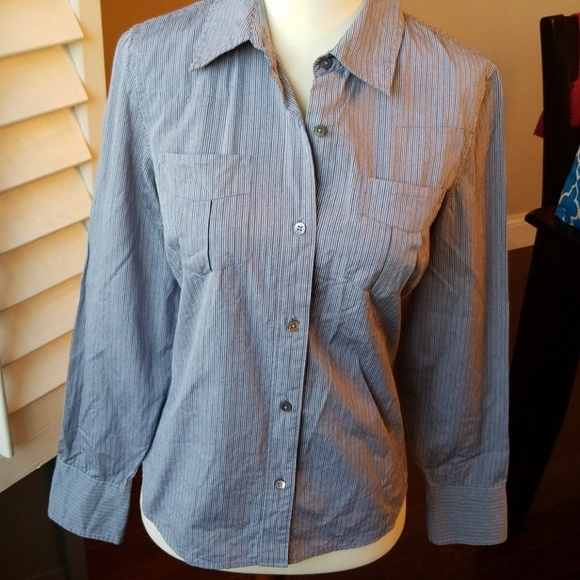 610d5a2e Banana Republic Tops   Button Up Striped Collard Shirt S   Poshmark